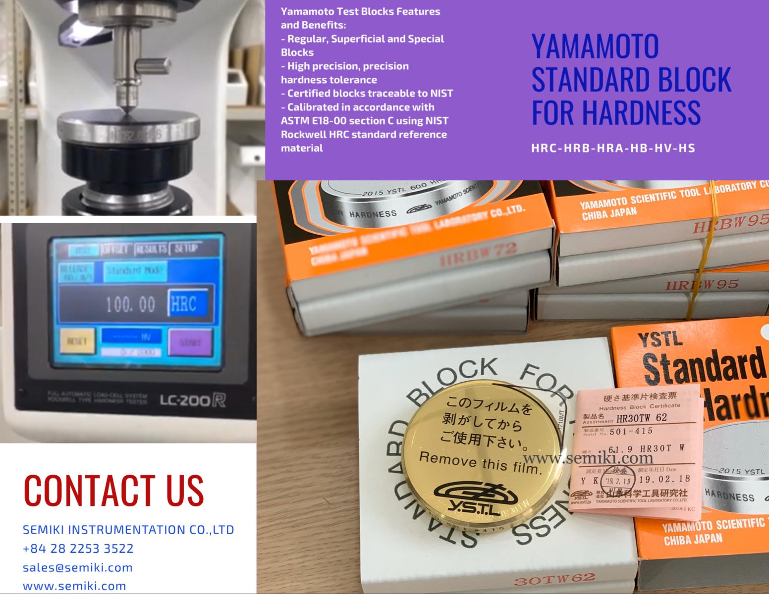 yamamoto standard block for hardness
